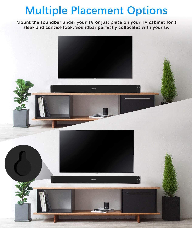 Amazoncom Sound Bar Popchose 32 Inch For Tv 30w 20 Multi Channel Surround Systems