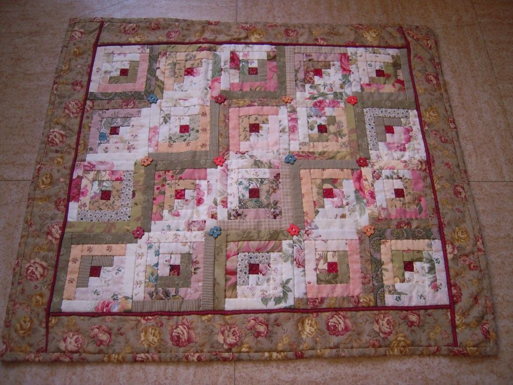 Modele Patchwork Log Cabin Patch Couette Patchworks Broderie