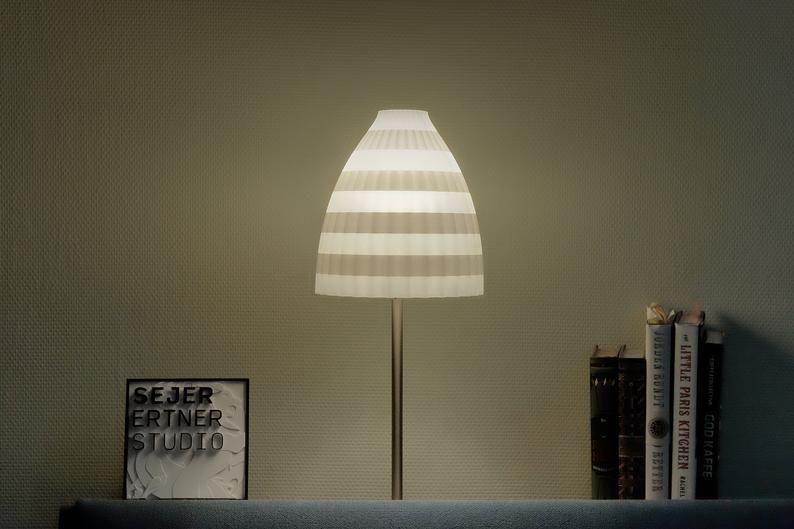 Eco Friendly Lamp Shade Wave Layers In 2020 Lamp Shade Lamp Shades