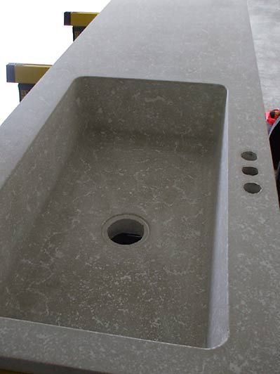 Buddy Rhodes Artisan Concrete | Show And Tell. Sink And Counter Integrated.