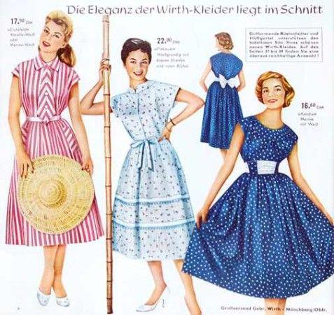 Mode der 50er Jahre … | wirtschaftswunderkinder in 2018…