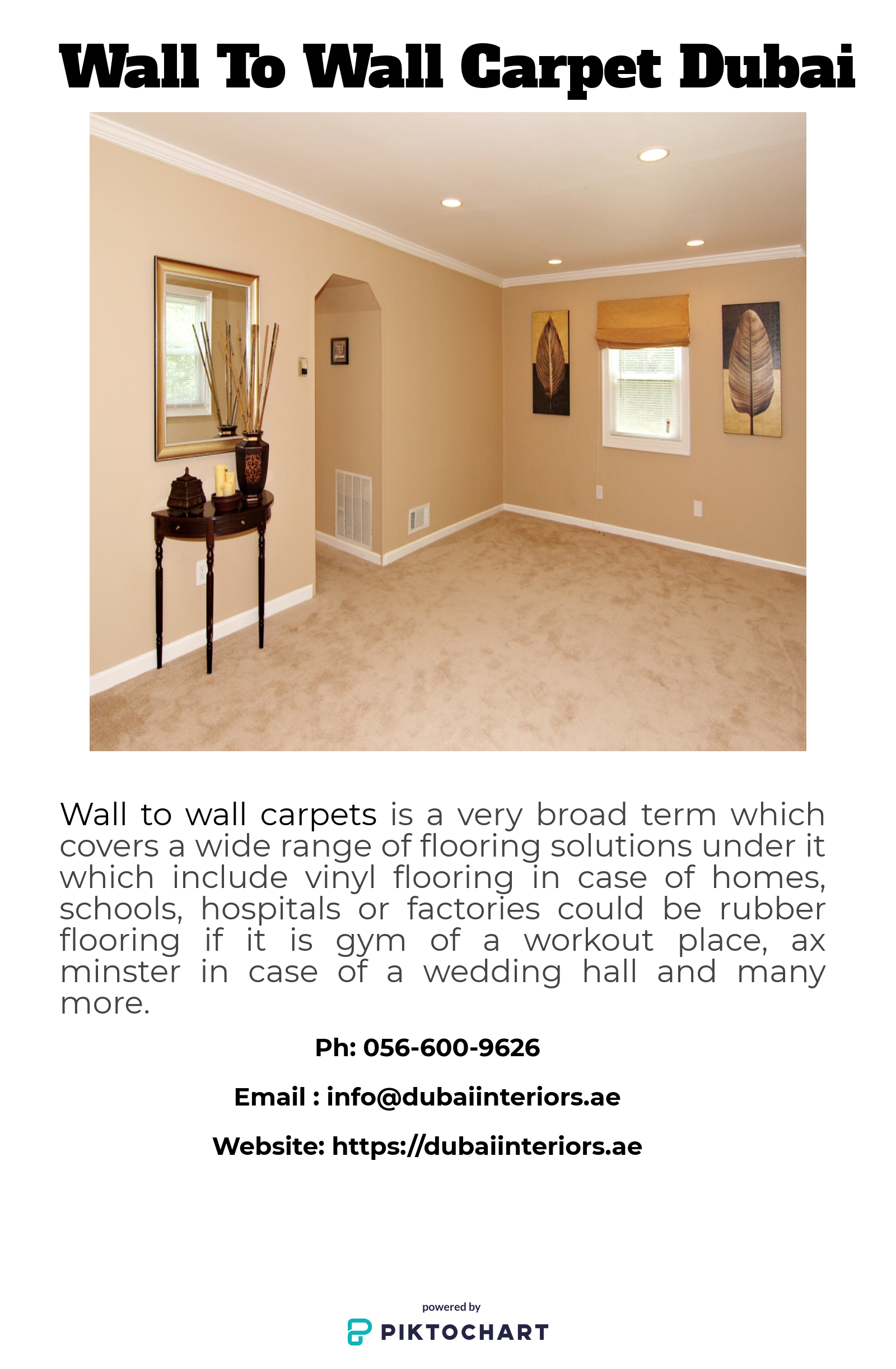 Our Broad Range Of Wall To Wall Carpets Dubai Is Available In