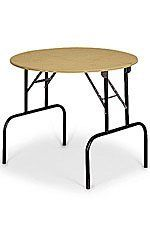 Round Retail Display Table With Folding Legs 36 By Store Supply