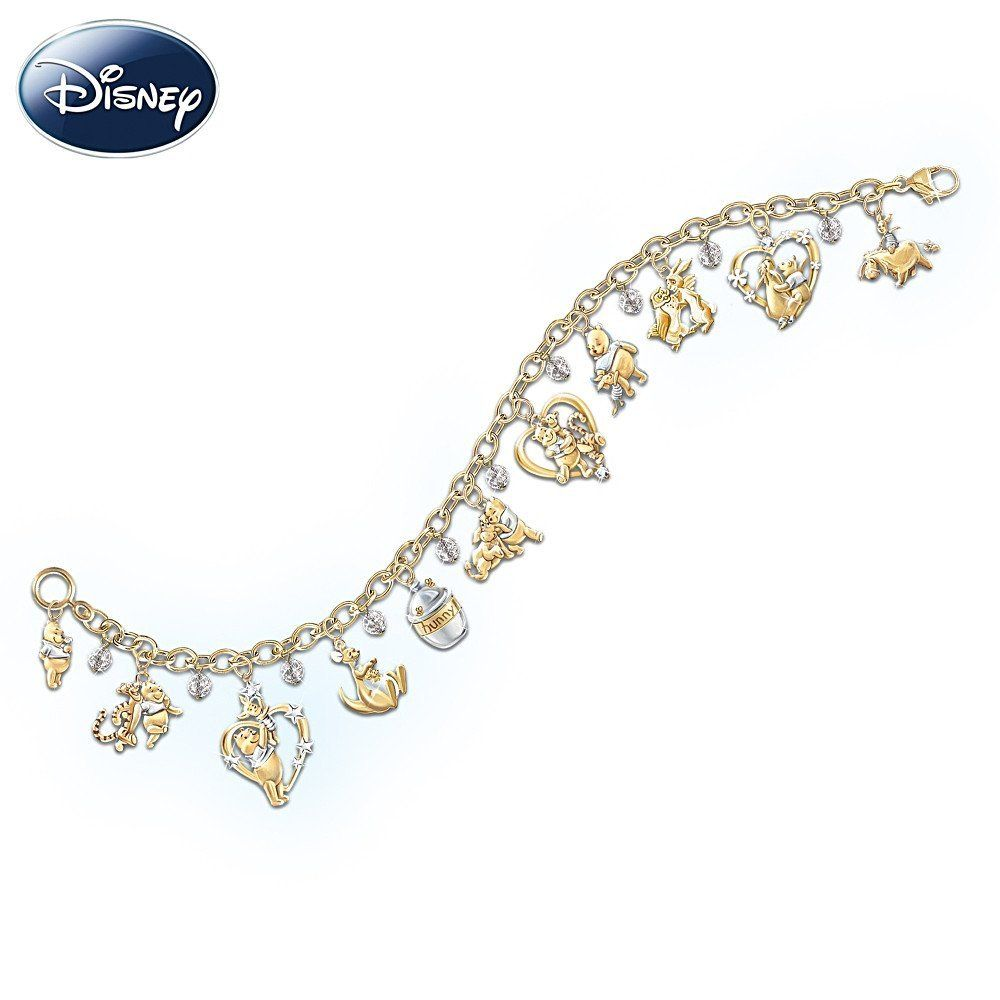 Amazon.com: Disney Winnie The Pooh & Friends Charm Bracelet by The ...