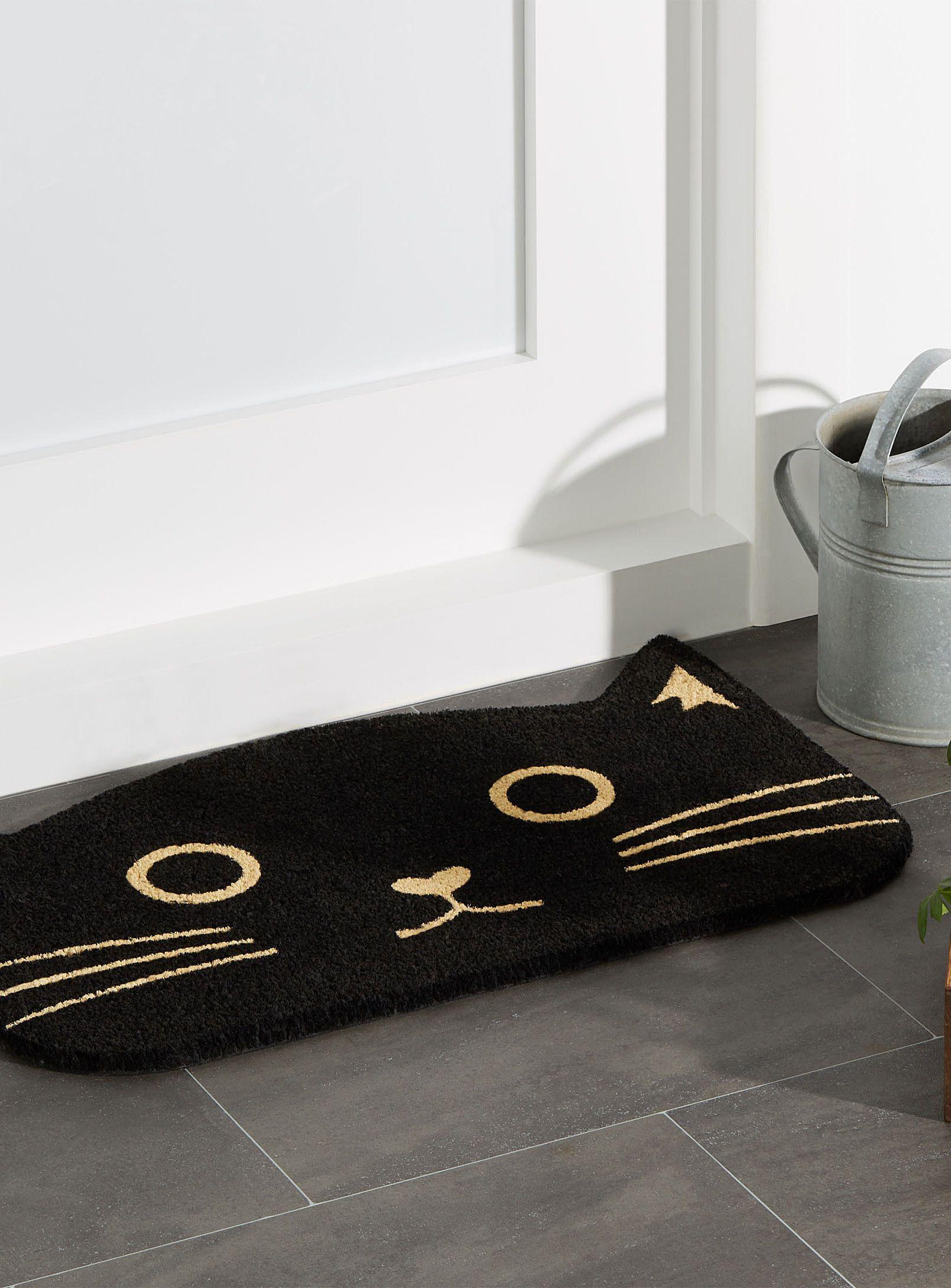Brand new Black cat doormat 18