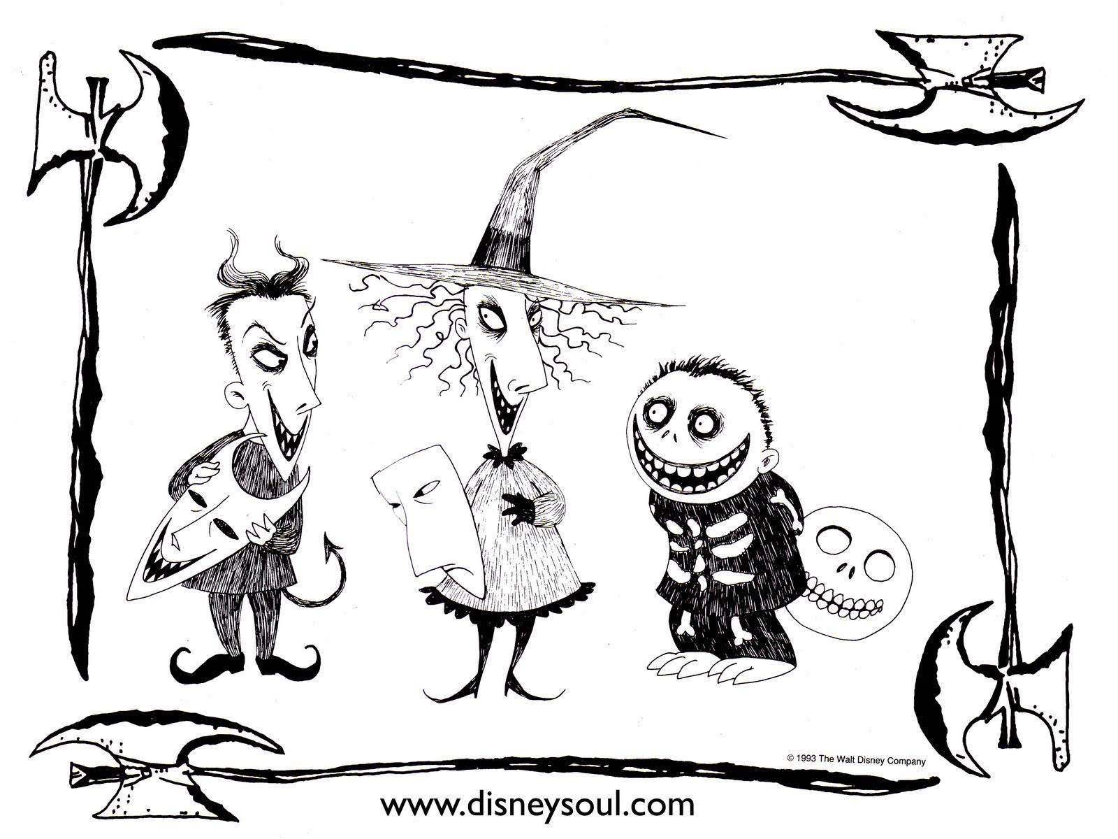 dibujos-para-colorear-pesadilla-antes-de-navidad-disney-coloring ...