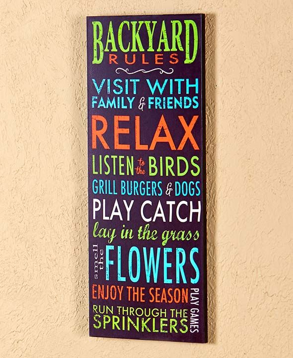 Summer Fun Rules Signs