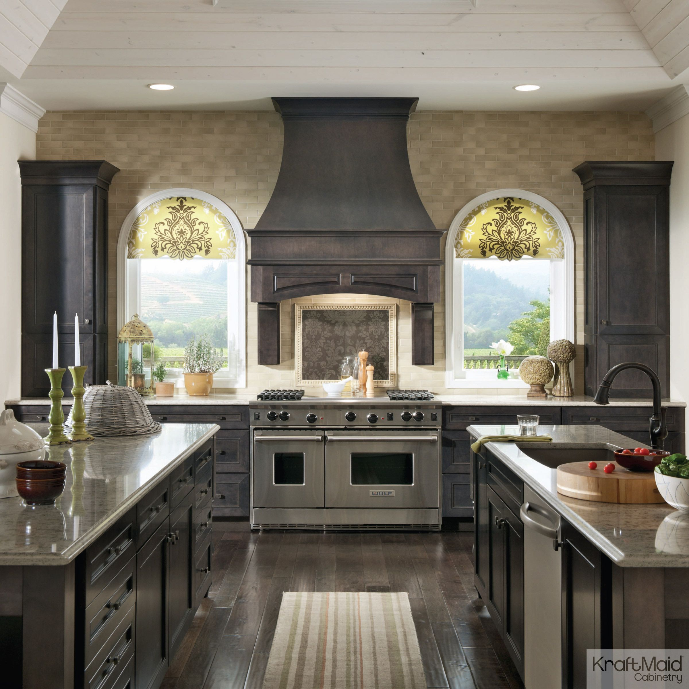 French Country Kitchen With Maple Cabinets color & craft, part 2: slate and golden lager | home interior