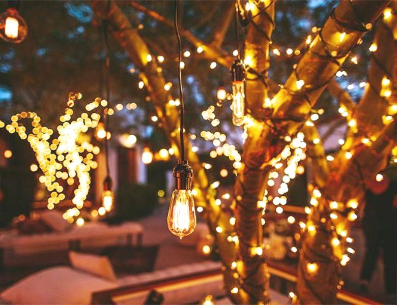 Awesome Diy Outdoor Light Designs You Can Do For Your Next Project Outdoor Fairy Lights Hanging Christmas Lights Lighting Your Garden