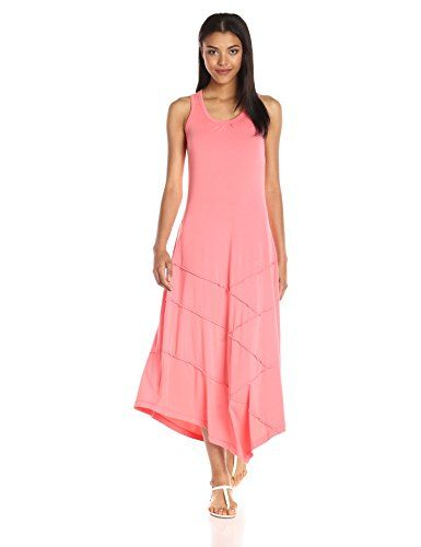 f2063f6a36c ModODoc Womens Cotton Modal Hanky Hem Maxi Dress Cali Coral XLarge     Continue to the product at the image link.