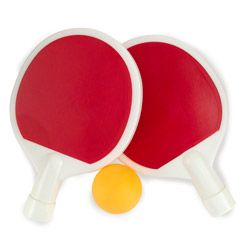 Ping Pong Paddle Flask Set makes ping pong the best drinking game around!