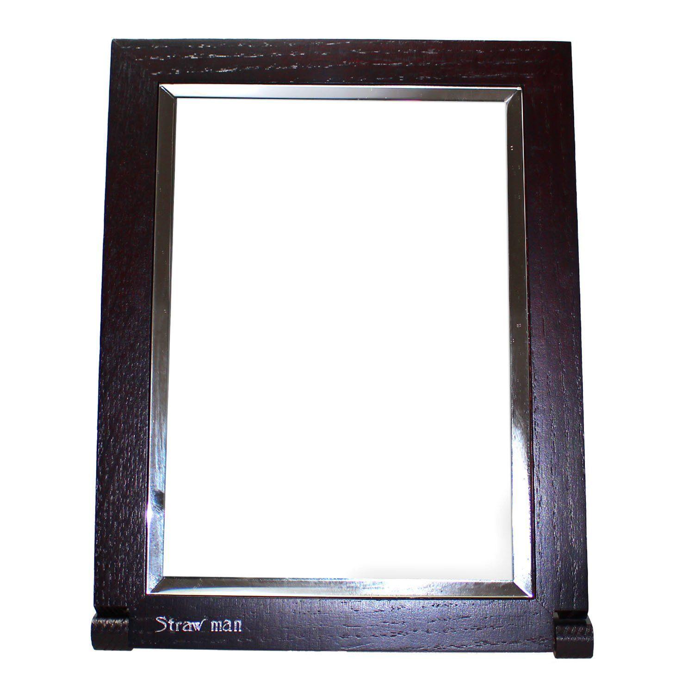 JustNile Adjustable Classic Dark Brown Wooden Frame Vanity Bathroom ...