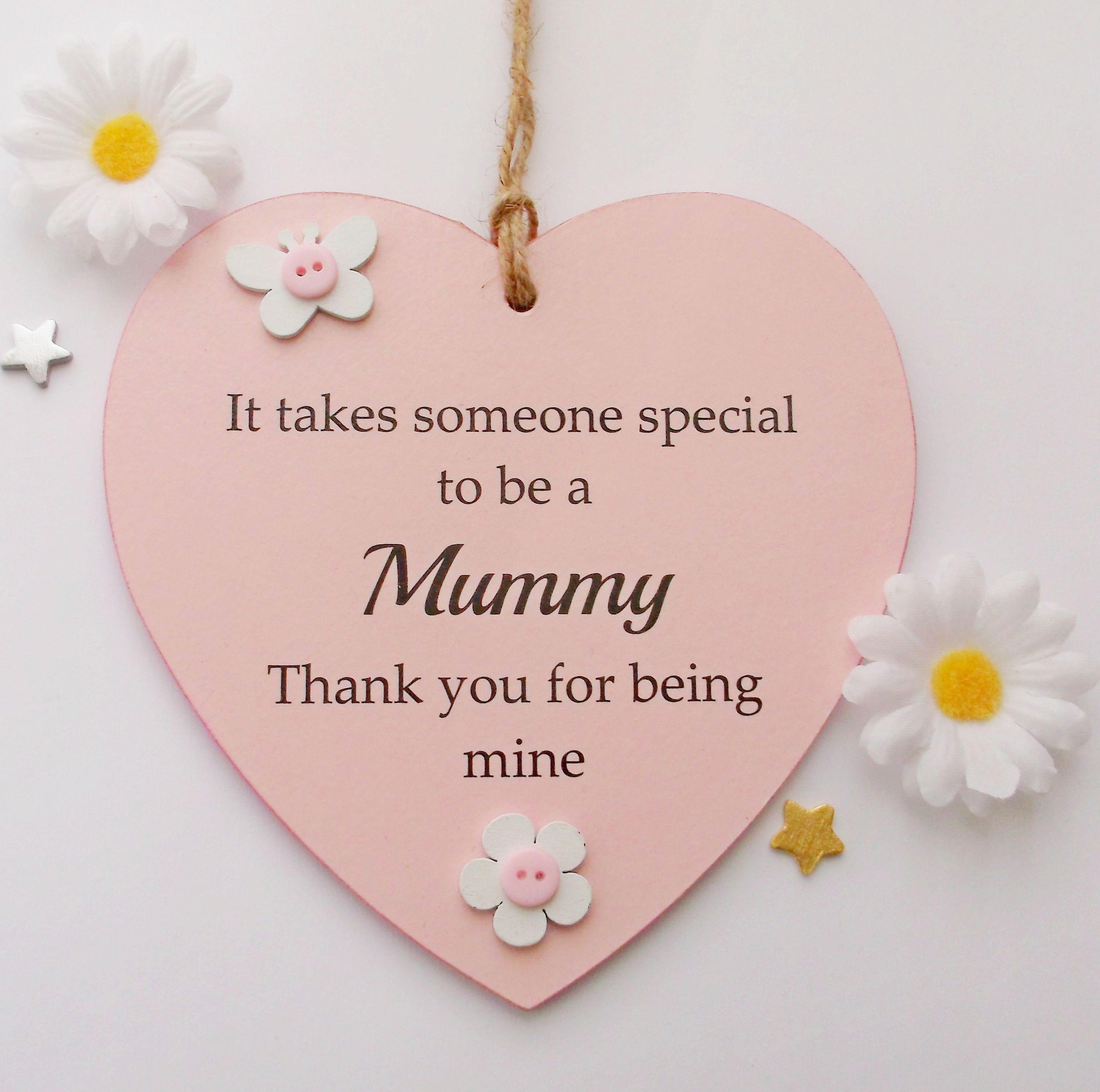 Wooden Mum//Mummy Plaque//Sign Hanging Heart First Mothers Day Gift//Keepsake