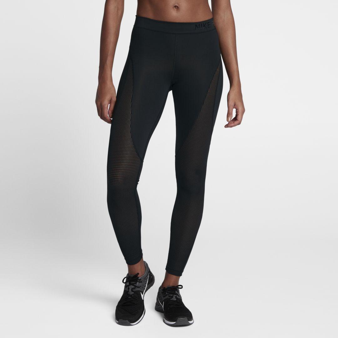96ffd8a4357c9a Nike Pro HyperCool Women's Mid-Rise Training Tights Size M Short (Black)