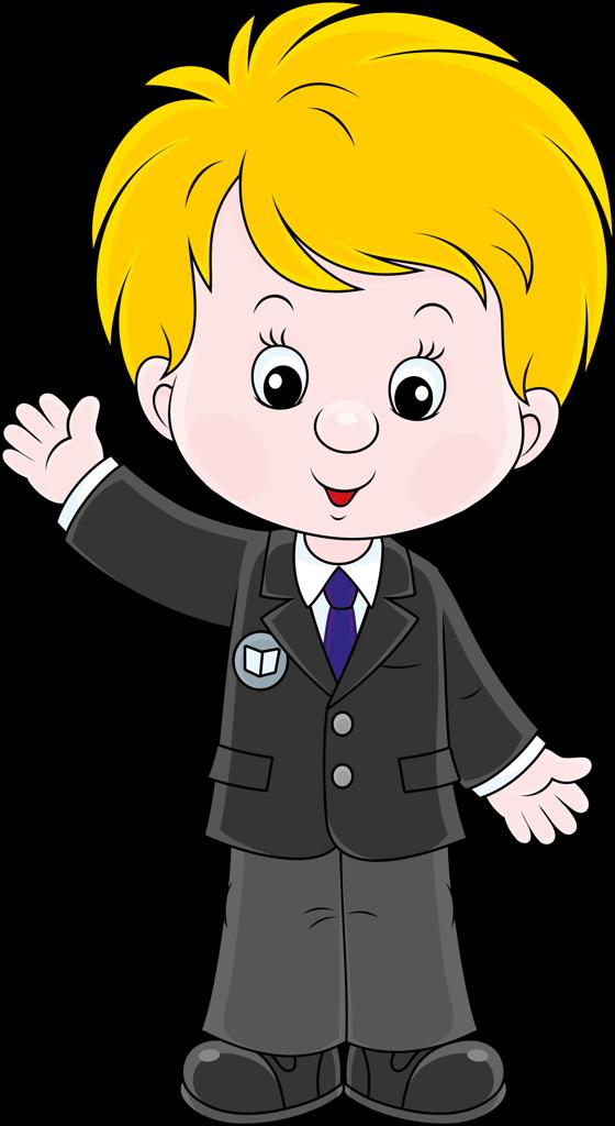 ученик анимашка на прозрачном фоне