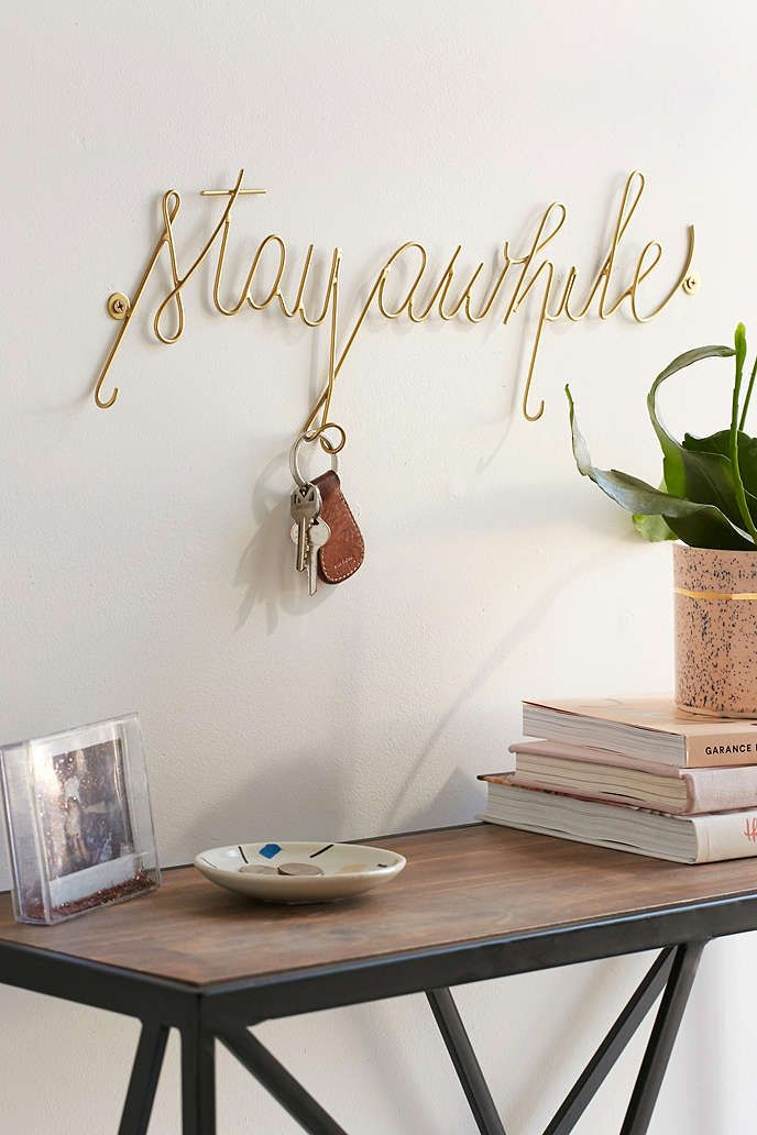 Stay Awhile Hook - Whimsical text to mount to your wall. Perfect for  displaying photos, hanging jewelry or using on its own as a unique decor  piece.