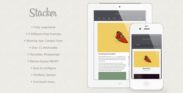 Stacker - Responsive Wordpress Theme | Envato | Pinterest