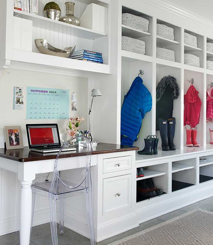 Custom Valances Faux Roman Shades And Draperies Mudroom Lockers Mudroom Laundry Room Built In Lockers My office space in mudroom