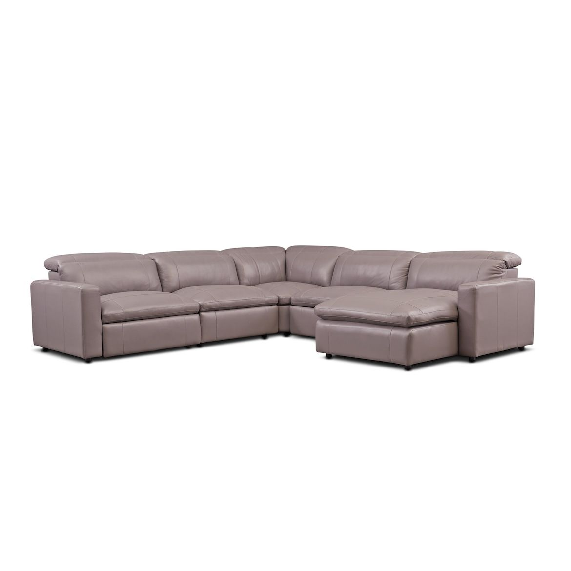 Best Happy 5 Piece Dual Power Reclining Sectional With Chaise 400 x 300