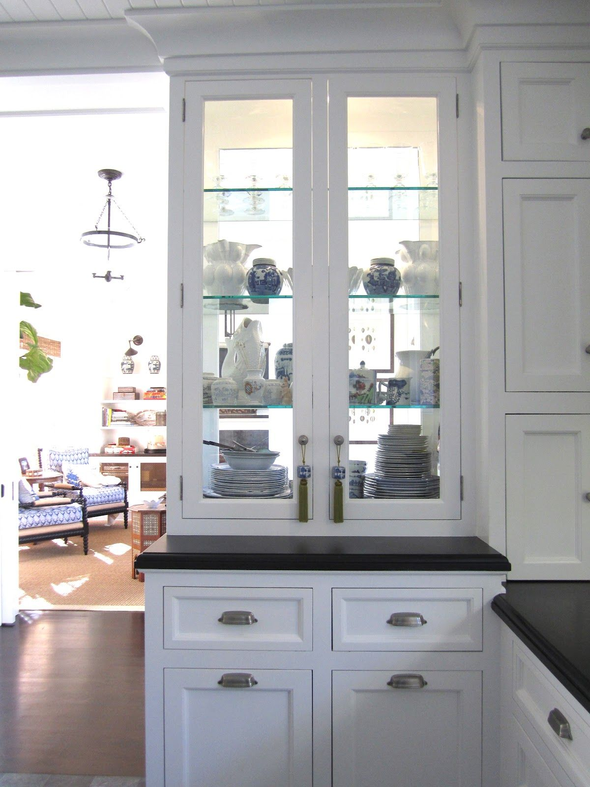 Double Sided Gl China Cabinet For In Between A Kitchen And Dinning Room