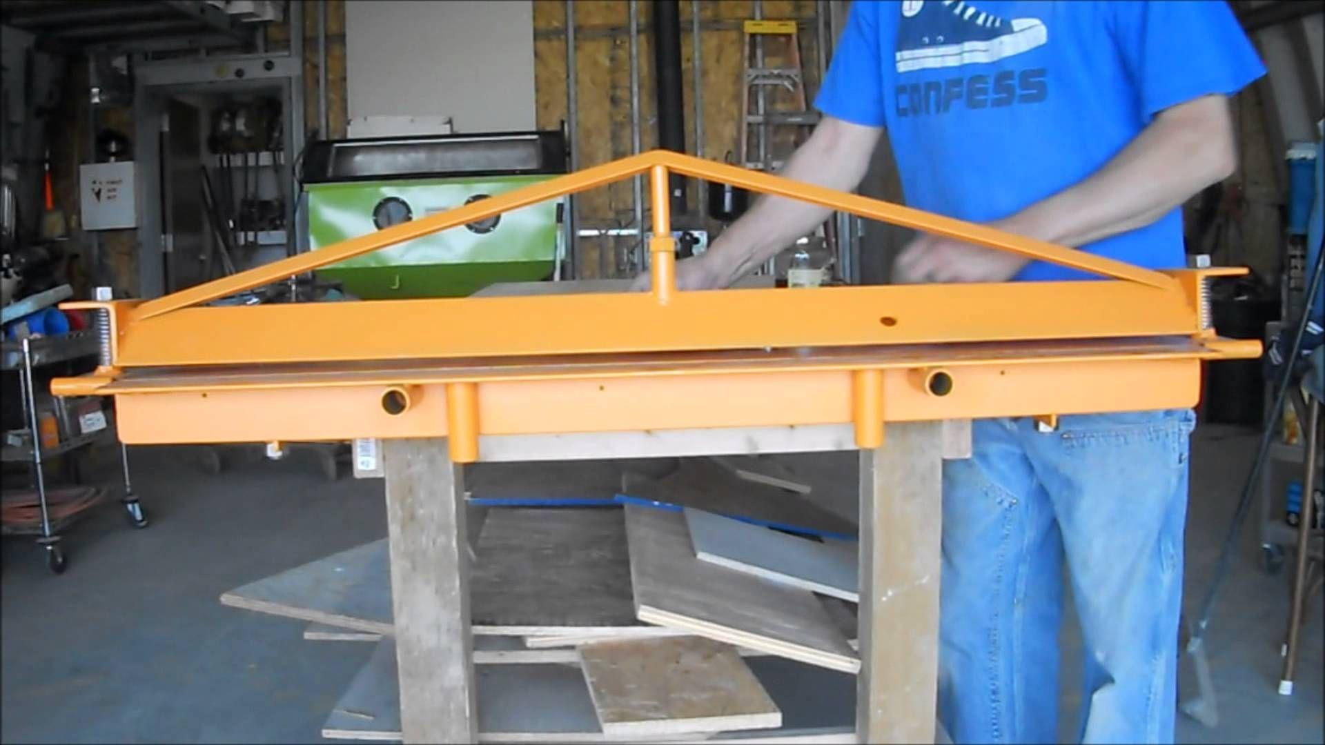 Home made sheet metal brake sheet metal bender sheet