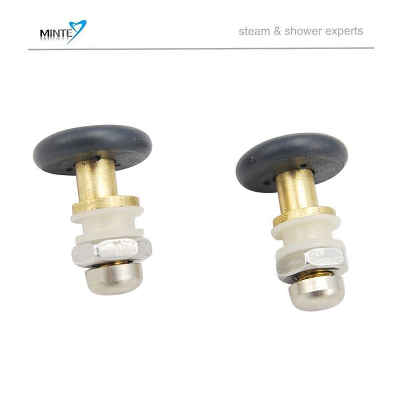 27mm diameter shower door parts shower sliding door pulley, brass ...