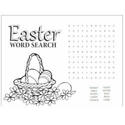 Easter Word Search Kids Craft Easter Pinterest Word search