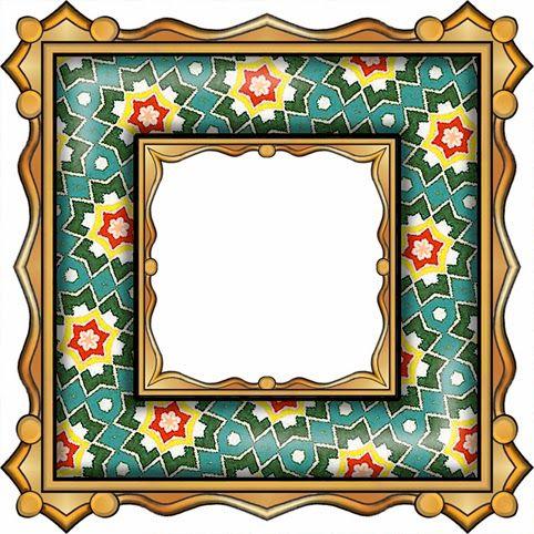 ArtbyJean - Paper Crafts: ---FRAMES - Gold Edged Square ...