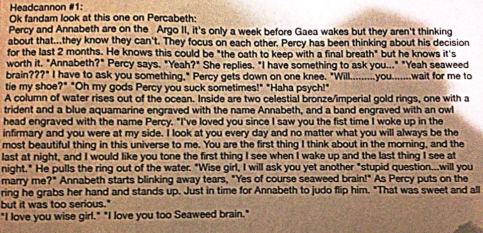 Persassy even on the verge of the end of the world. I wrote this. Hope ya like it fandam! #PERCABETH4EVER