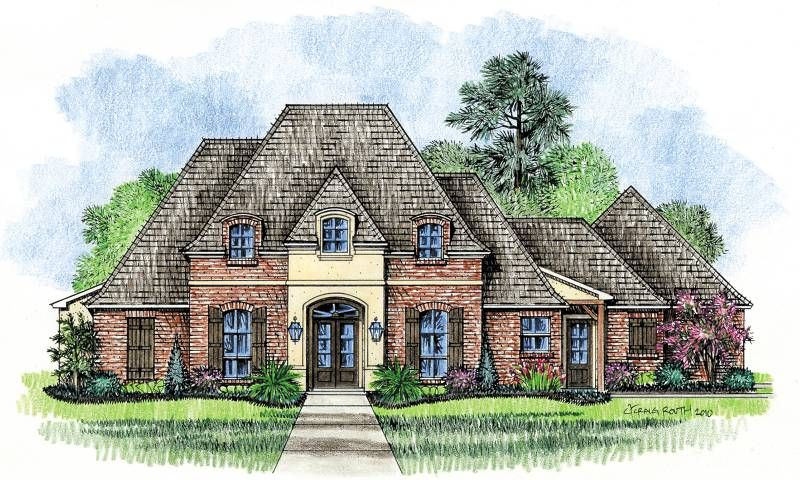 Country cottage house plans meadowbrook country french for Acadian cottage house plans