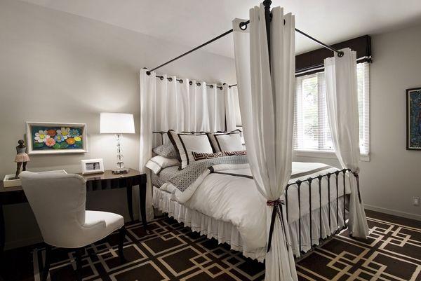 reina cama con dosel Ideas estructura de metal marco de la cama ...