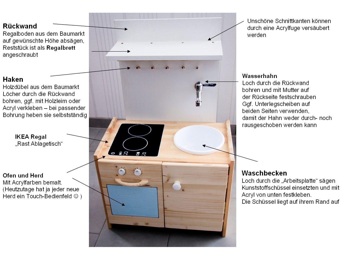 Fingerles Werke: Wir bauen eine Spielküche | small ones | Pinterest ...