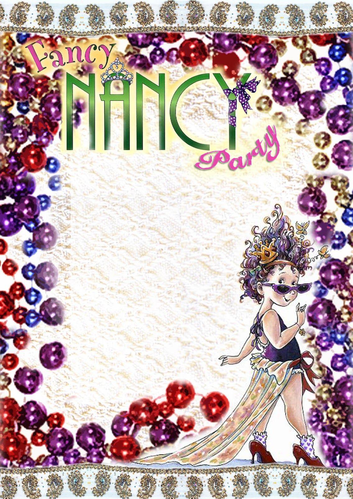 FREE Kids Party Invitations: Fancy Nancy Printable Invitation *NEW ...