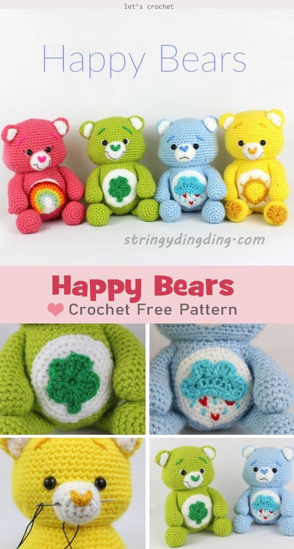 Photo of Happy Bears Amigurumi Crochet Free Pattern