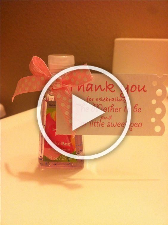 Thank You Gift For Your Baby Shower Guests A Mini Bottle Of Sweet