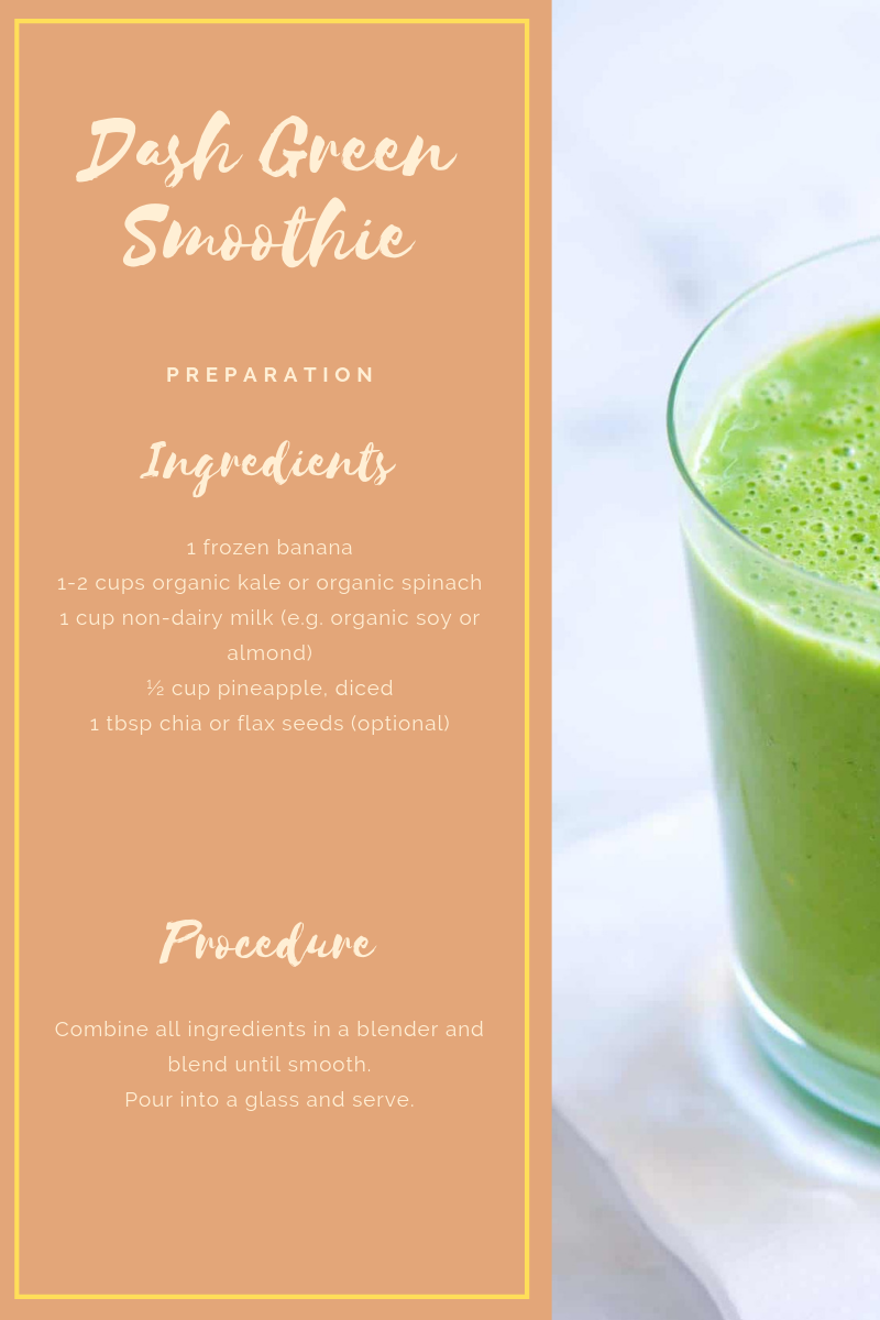 dash diet green smoothie recipes
