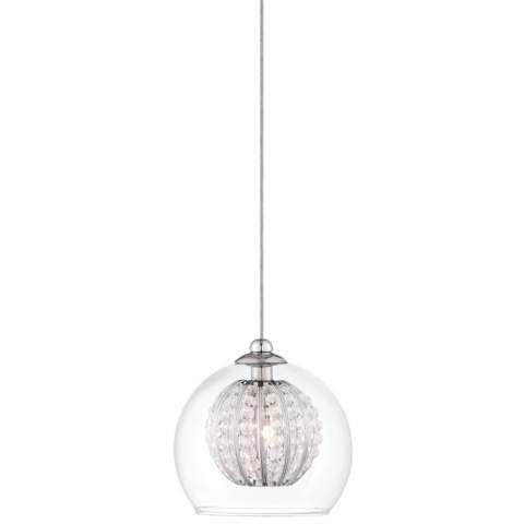 "Possini Euro Onida 4 1/4"" Wide Clear Crystal Glass Pendant - #3Y406 | LampsPlus.com $129"
