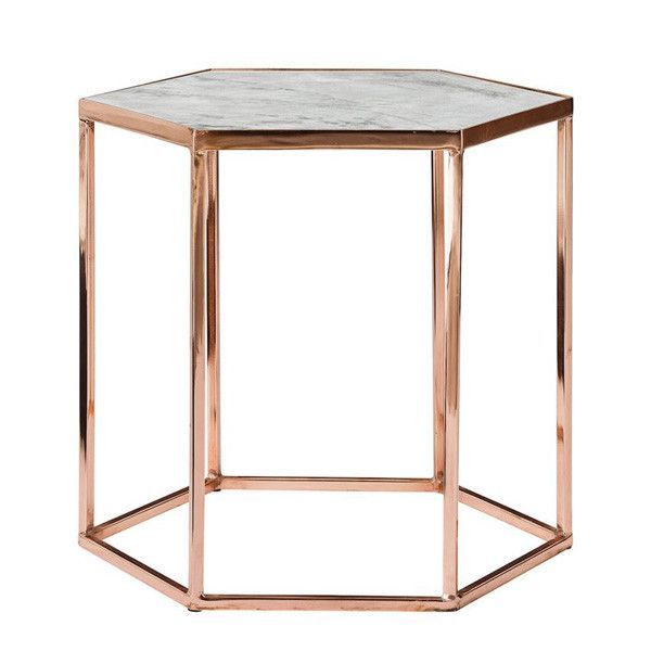 marble top coffee table copper