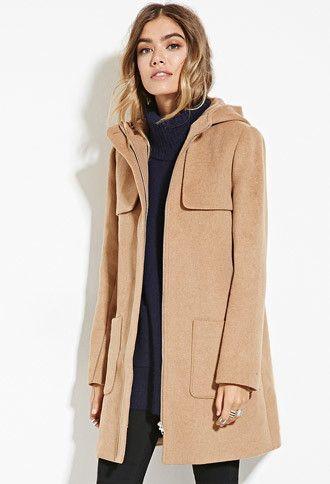 7e08908173a02 Hooded Wool-Blend Coat