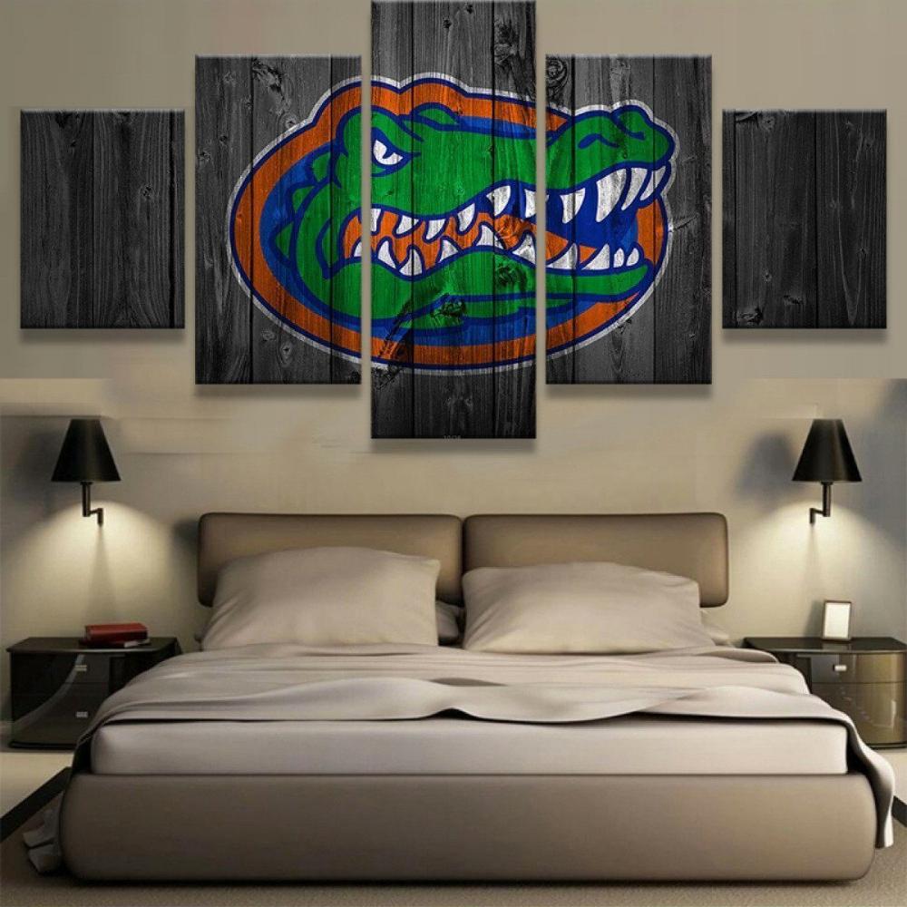 Florida 5 Piece Canvas Canvas Print Wall Bedroom Canvas Florida Gators Room