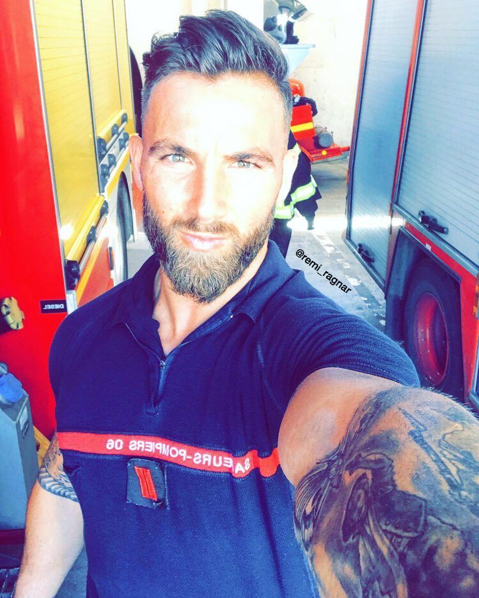 Remi Remi Ragnar French Firefighter Model Men In Uniform Good