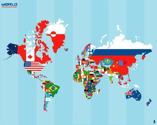 World culture night have people bring an ethnic dish music love the map with flags ideapossibly a tattoo with the outlines filled in with their flag when i visit the country gumiabroncs Choice Image