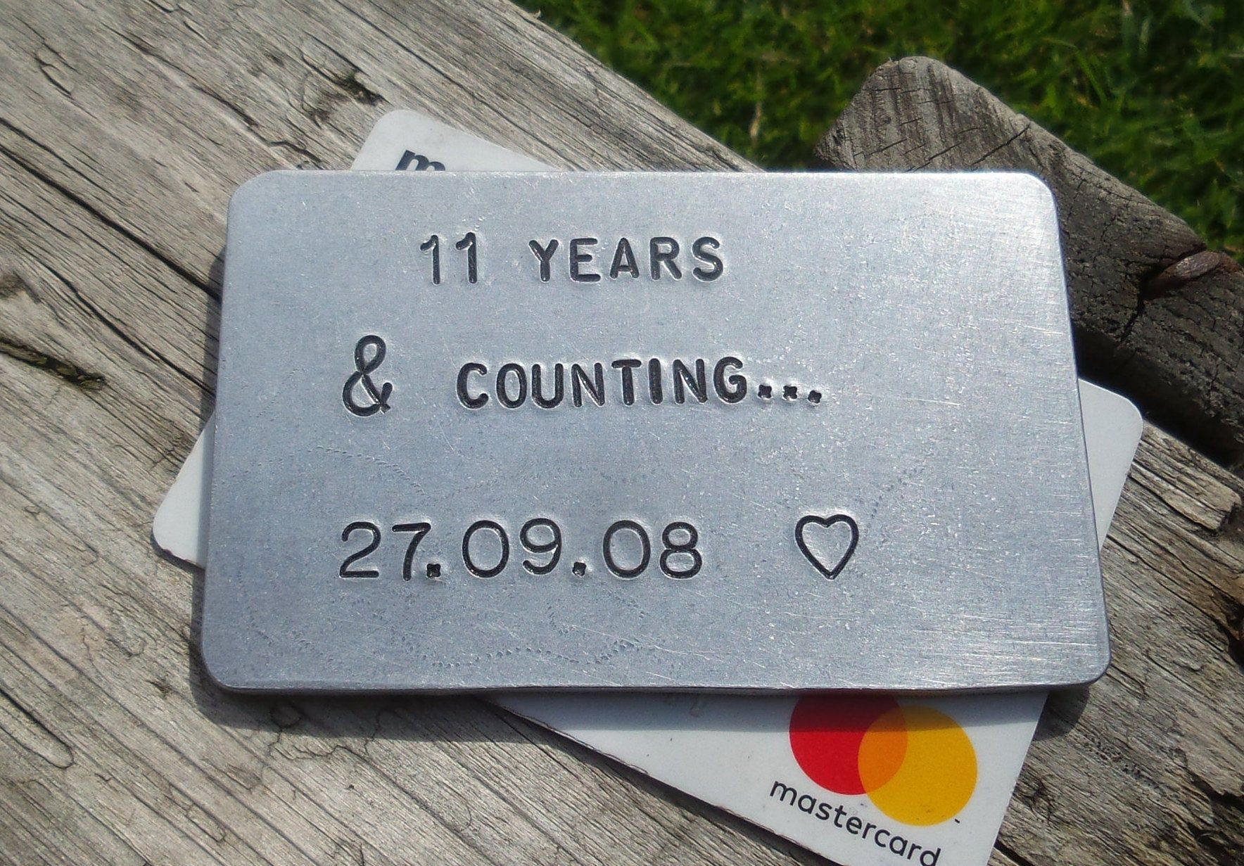 11 years and counting wallet insert 11th anniversary gift