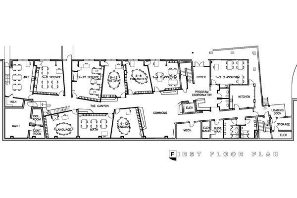 First Floor Plan Classroom Architecture School Floor Plan