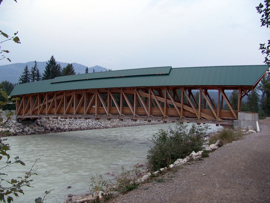 Kicking Horse Pedestrian Bridge Golden Bc Canada