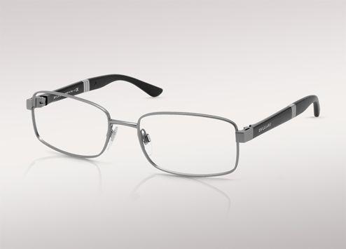 La version linéaire du motif Tubogas réinterprète ces lunettes de vue à  monture métallique carrée. aa5833a7d1cb