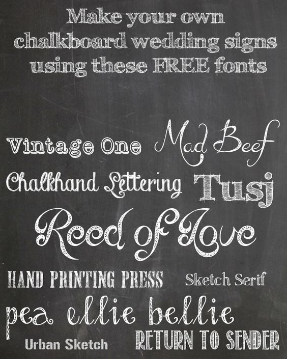 photo relating to Printable Fonts for Signs identified as Free of charge Chalkboard Fonts For Wedding ceremony Signs and symptoms Printable Marriage ceremony