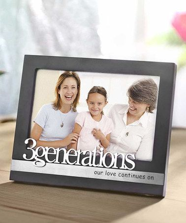 Look what I found on #zulily! Black & Silver \'3 Generations\' Frame ...