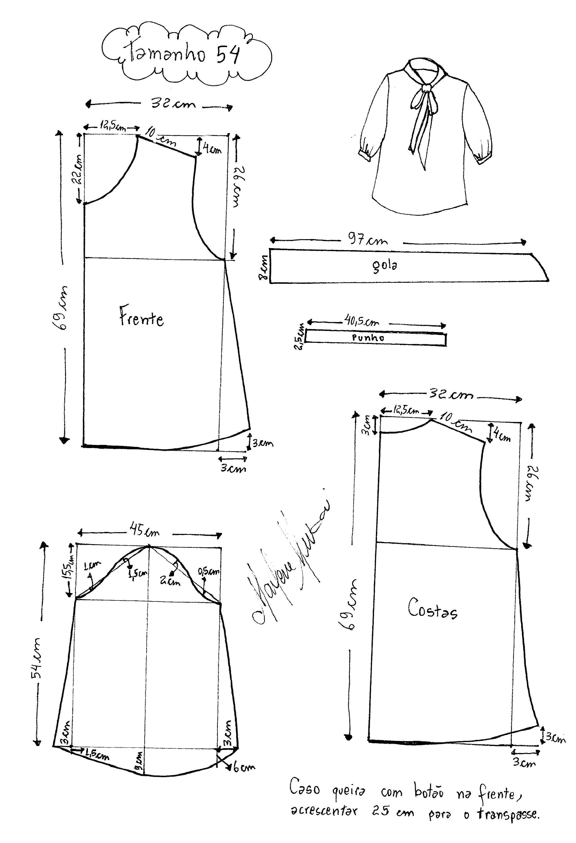 blusa-laço-540007.jpg (2364×3458)   Costura   Pinterest   Trucos ...