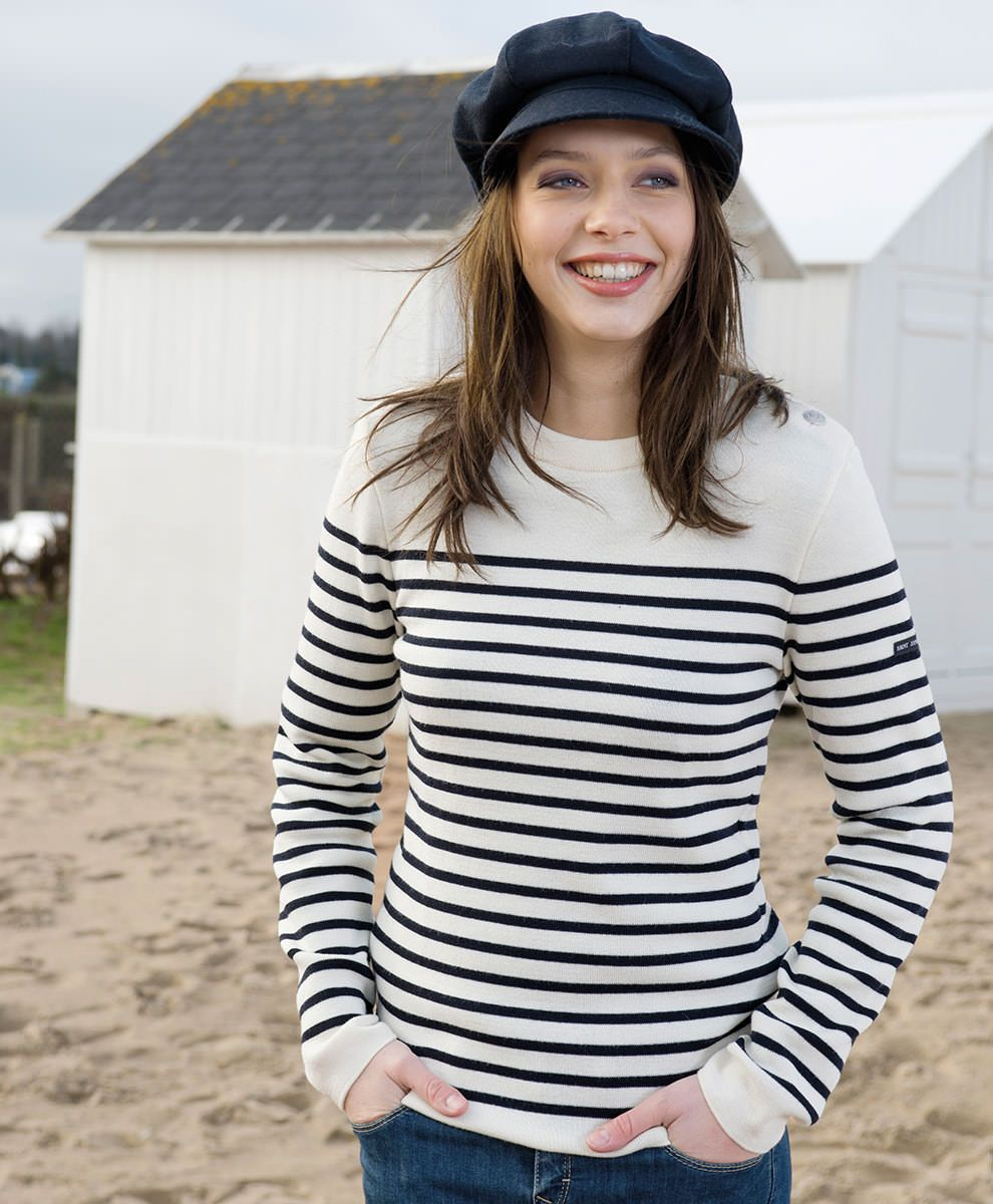 Assez Pull Marin rayé femme 100% Pure Laine Maille fine | BOUTIQUE SAINT  CZ04